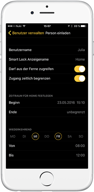 wie funktioniert das bluetooth t rschloss nuki smart lock. Black Bedroom Furniture Sets. Home Design Ideas