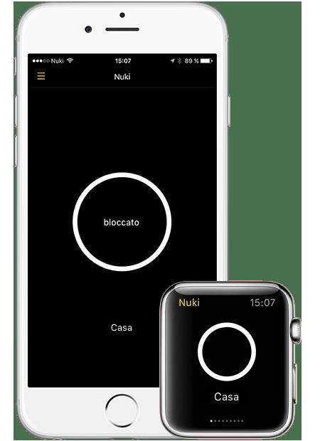 Controlla facilmente la serratura elettronica tramite Smartwatch