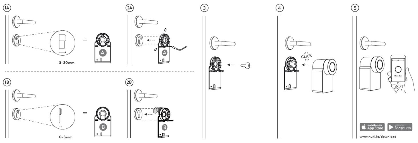 Installation & mounting of Nuki Smart lock on your door lock