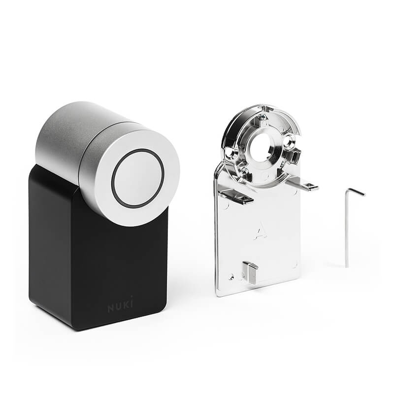 Nuki Smart Lock mounting plates with allen key