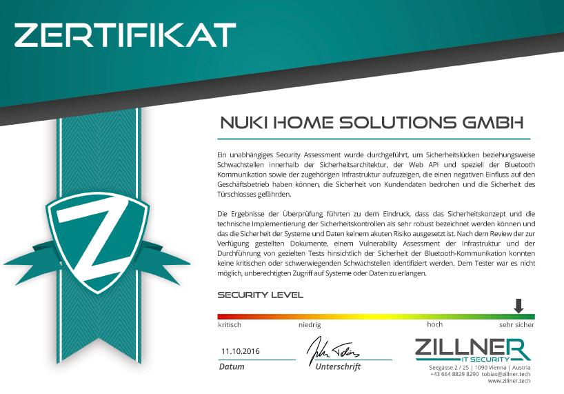 Sicherheitstest vom elektronischen Türschloss - Nuki Smart Lock