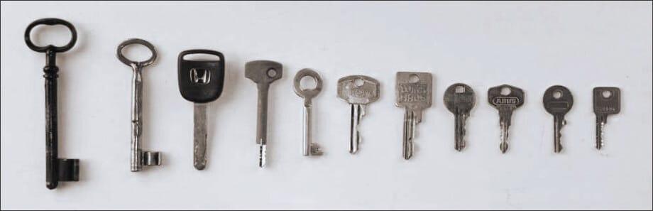 Schlüsselarten - verschiedene Schlüssel für Türschlösser