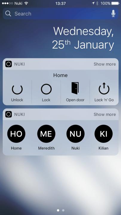 Nuki iOS Widget