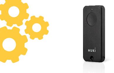 Nuki Fob | Bluetooth Fernbedienung | Smart Home Schlüsselanhänger | Elektronisches Türschloss | Smart Lock