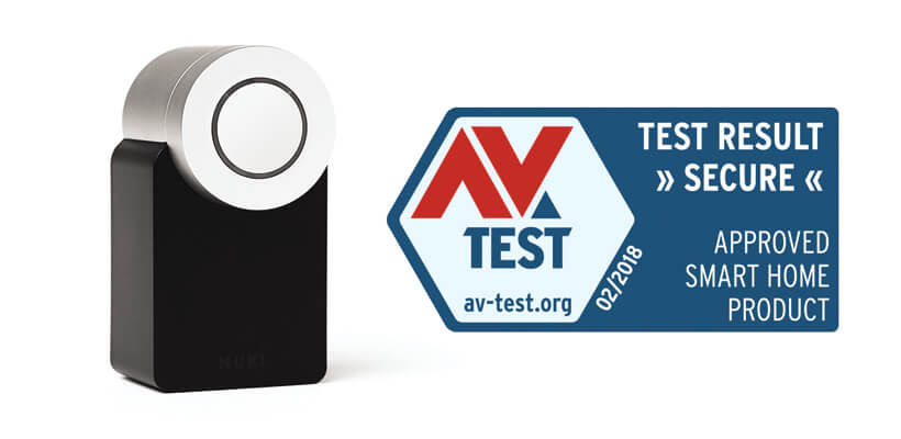 Nuki certified by AV Test Security Test