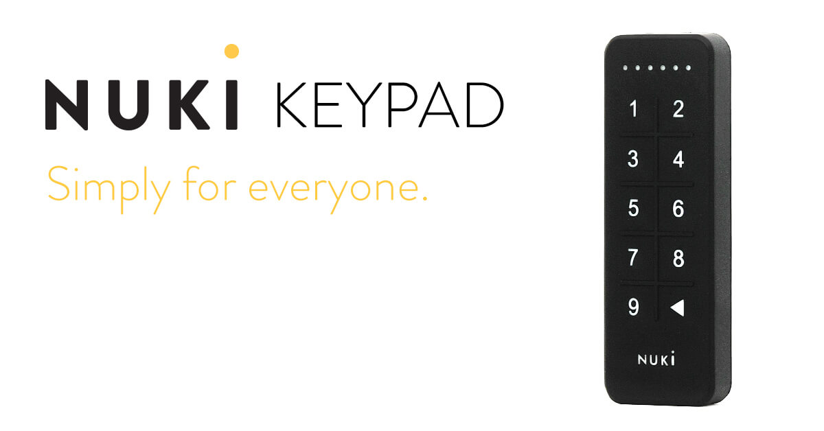 Nuki Keypad / The new upgrade for your Smart Lock