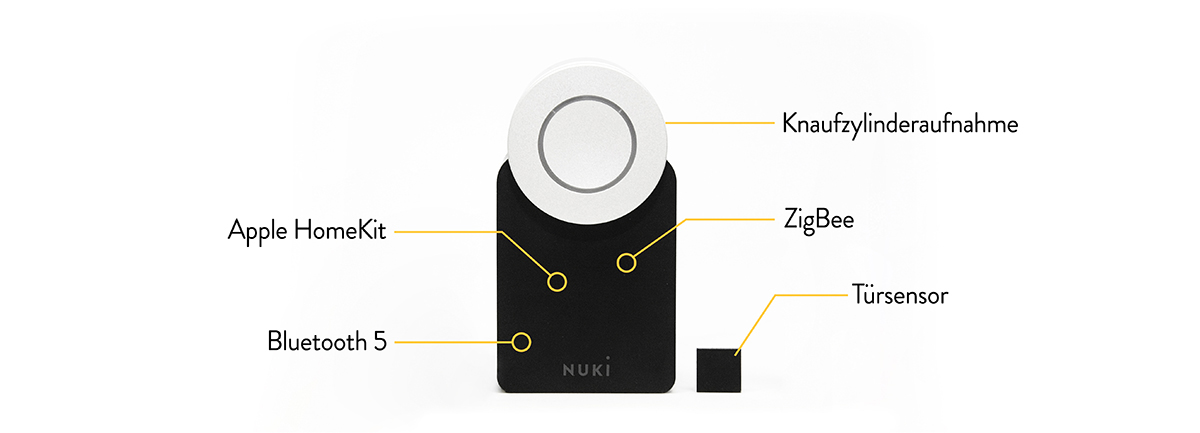 elektronisches t rschloss f r smarten zutritt nuki smart lock. Black Bedroom Furniture Sets. Home Design Ideas