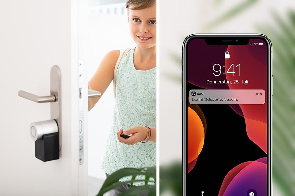 Push Benachrichtigungen Nuki Smart Lock iOS App