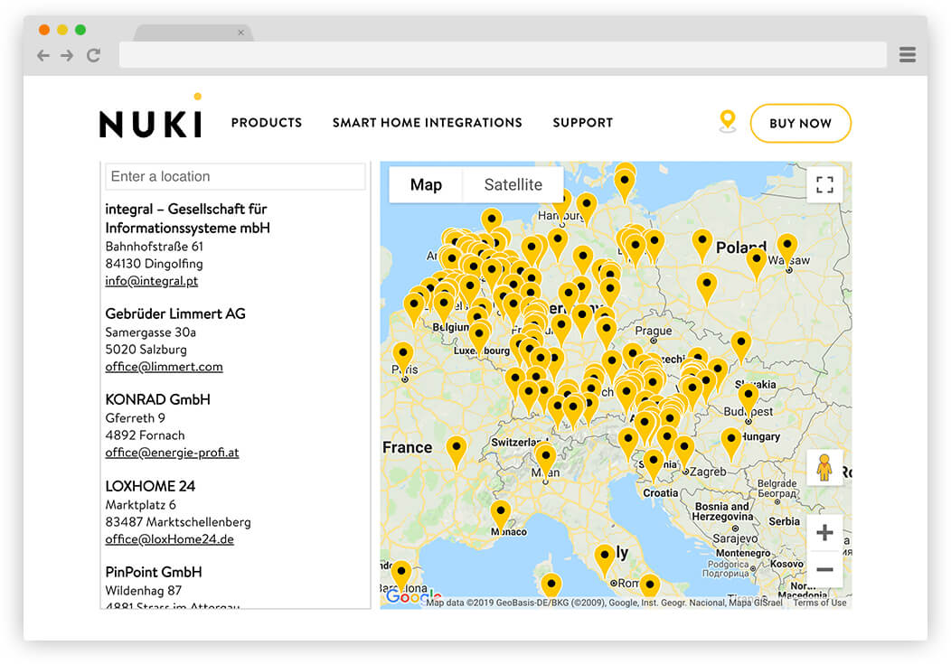 Nuki Pro reseller directory