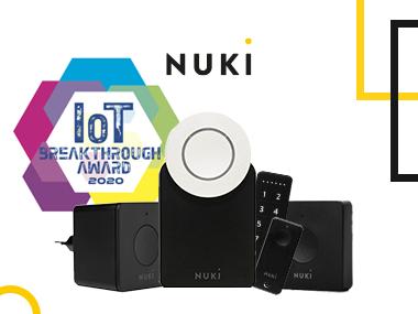 IoT Breakthrough Awards 2020: Nuki ontvangt onderscheiding als opkomend bedrijf van het jaar voor de consumentenmarkt