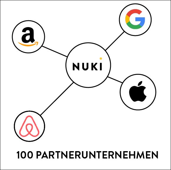 Nuki arbeitet mit über 100 Partnerunternehmen zusammen