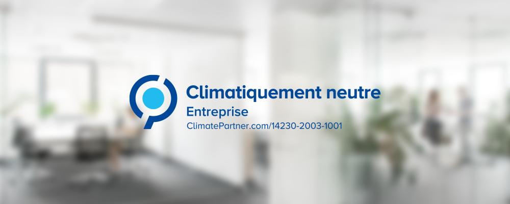 ClimatePartner atteste que Nuki est une entreprise climatiquement neutre