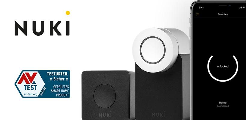 AV-TEST Deutschland: Nuki Combo 2.0 erneut als sicheres Smart Home Produkt ausgezeichnet