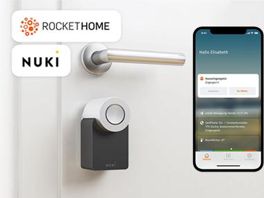 ROCKETHOME und Nuki - neuer IoT-Service für ältere Menschen und ihre Angehörigen