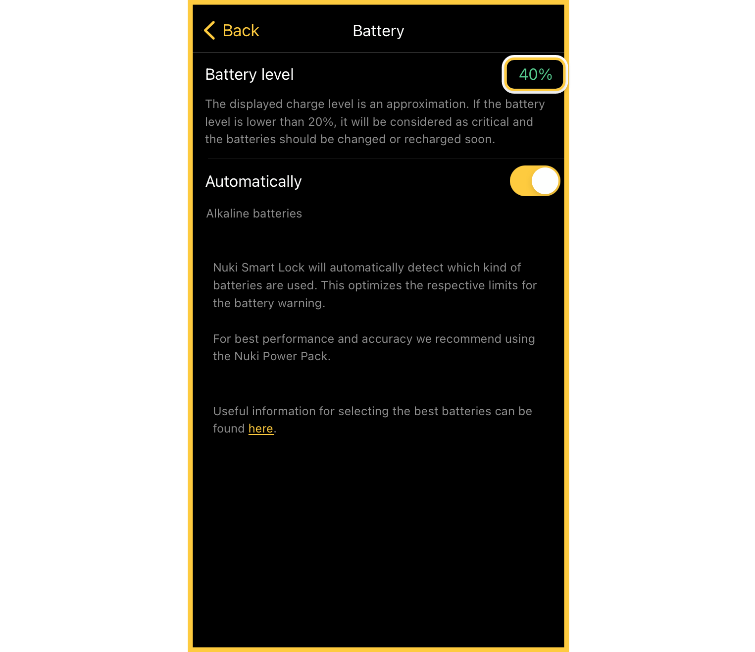 battery percentage indicator and new Smart Lock setup process