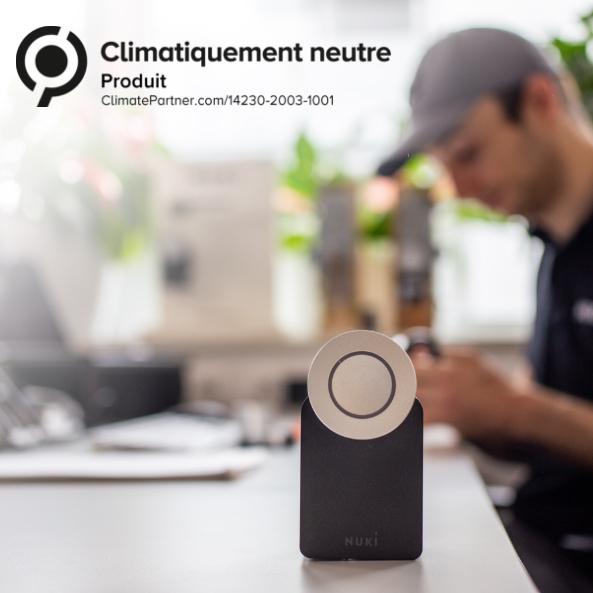 La neutralité climatique de la Nuki Smart Lock est confirmée