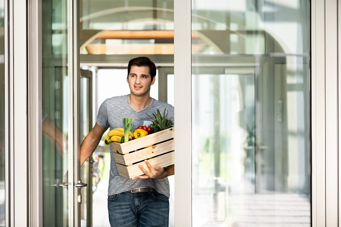 grocery shopping with in-home delivery thanks to Nuki Smart Lock