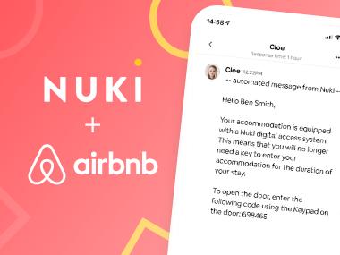 Nuki & Airbnb in-app messages