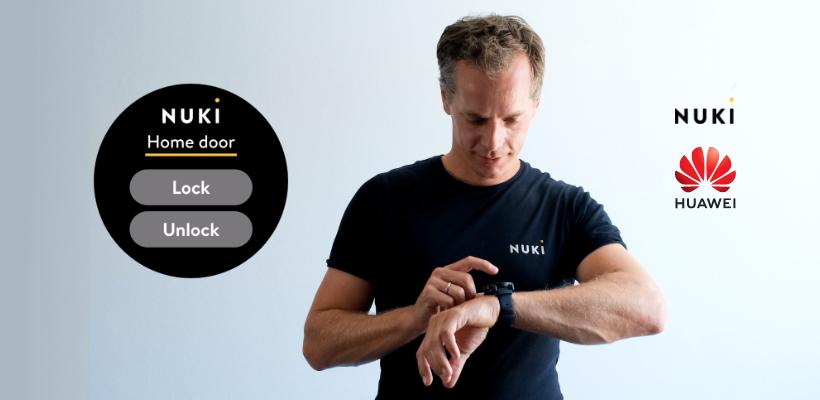 Open je Nuki Smart Lock vanaf je pols - met de nieuwe Huawei Watch 3