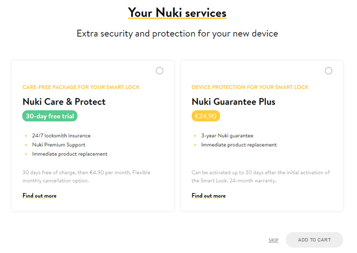 Extra security and protection for your Smart Lock: Nuki Care & Protect and Nuki Guarantee Plus